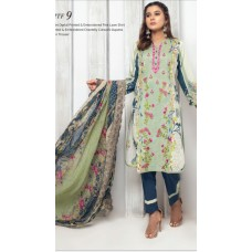 MTF 3 pcs lawn by emad textile